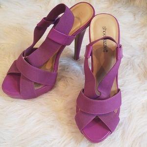 Shoe Dazzle Purple Heeled Sandals
